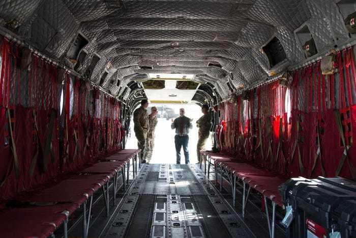 транспортный отсек вертолета